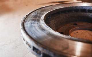 Допустимая толщина передних тормозных дисков