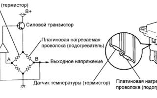 Высокий уровень сигнала датчика расхода воздуха
