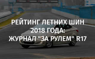 Рейтинг летних шин 2017 за рулем r17