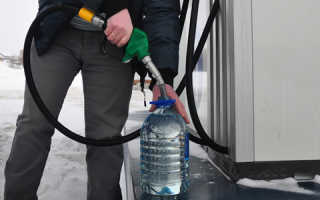 Как залить бензин в канистру на заправке