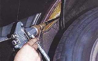 Обработка дверей автомобиля антикором