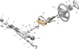 Промежуточный вал рулевого управления гранта