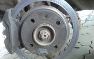 Толщина переднего тормозного диска