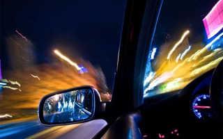 Езда ночью на машине